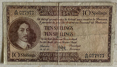 South Africa 10 SHILLINGS 1956 Circulated (I combine)