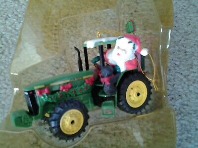 JOHN DEERE SANTA on 8400 TRACTOR Hanging Ornament 3rd Edition by Enesco orig box