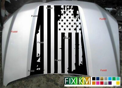Hood decal for 2015 - 2020 FORD F-150 American flag 5005