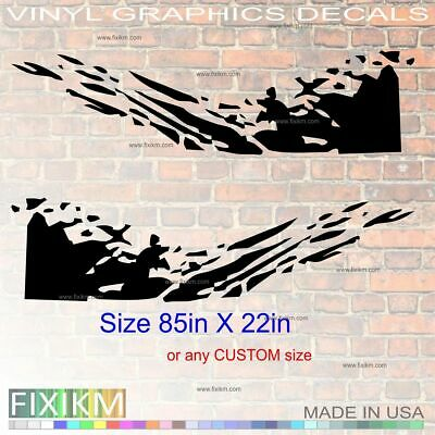 Graphics vinyl decal sticker mud splash off-road cars trucks SUV VAN RV trailer