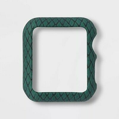 Heyday Watch Bumper for Apple Watch 38mm Series 2 & 3 Green Snakeskin B055