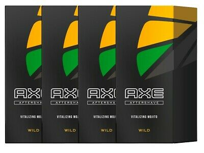 Ax Aftershave Wild Green Mojito & Cedarwood aftershave 4x 100ml men's shave