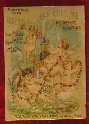 Hoyt's German Cologne Lowell Mass Victorian Trade Card No Reserve