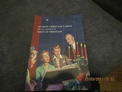 "1955 dated Firestone Tire & Rubber Co. ""Favorite Christmas Carols"".  AS IS."