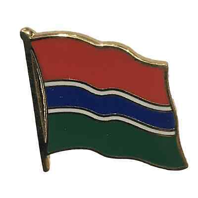 Gambia National Flag 3/4 Gold Plated Courtesy Enamel Pin Badge