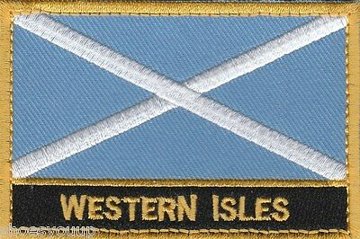 Western Isles Scotland Town & City Embroidered Sew on Patch Badge