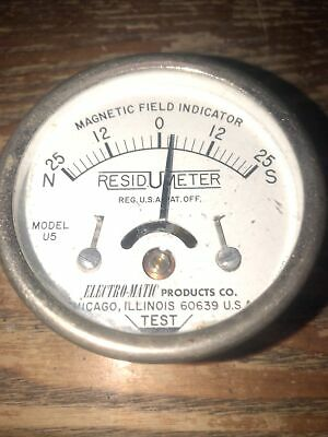 Vintage USA Magnetic Field Meter Indicator Resid meter Electro - matic productio