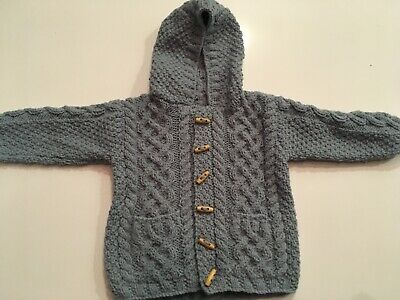 Arran Cardigan Toggle Buttons 6-12 Months (Little Green Radicals also available)