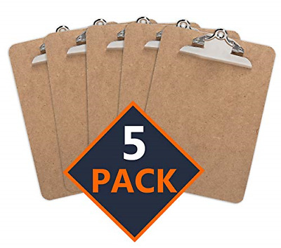 Clipboard Pack of 5 Standard Clip Hardboard | for Classroom,Clerical Work & use