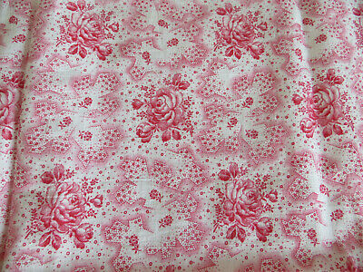 Pillowcase Pillowcoves Pillow  Vintagefabric Germanlinen Red Pink Floral