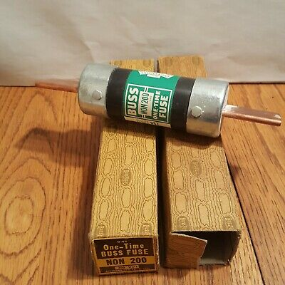 BUSS NON 200 Fuse One Time 200A 250V Lot of 2