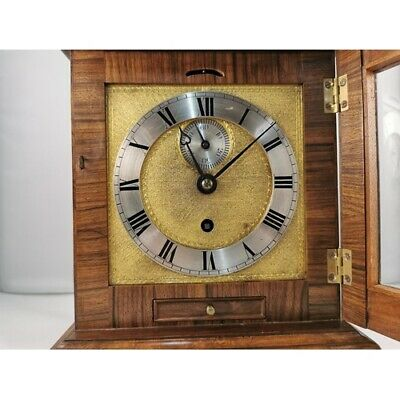 Lovely Quality Ornate Fusee Driven Bracket Clock In A Good Custom Walnut Case