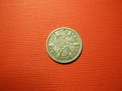 GBR715  - GREAT BRITAIN - 6  PENCE - 1929 - silver