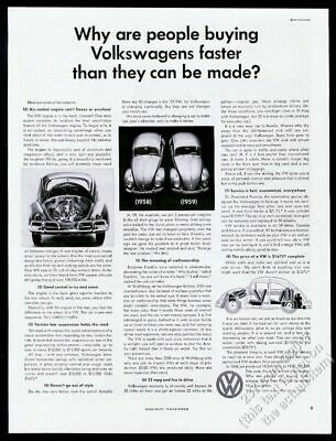 1959 VW Beetle photo Buying Volkswagens Faster Than They Can be Made 13x10 ad