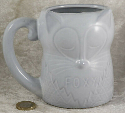 Fox Foxy shaped cup mug 4.5 inches tall British wildlife  collectable item