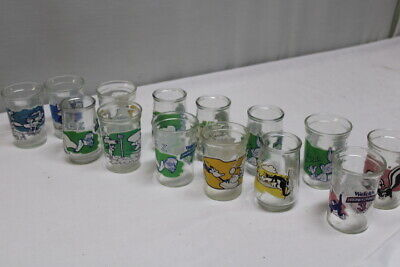 Vintage Welch's Loony Tunes Jelly Glasses 1994 Warner Brothers Lot of 14