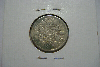 1929 Great Britain Silver Six Pence
