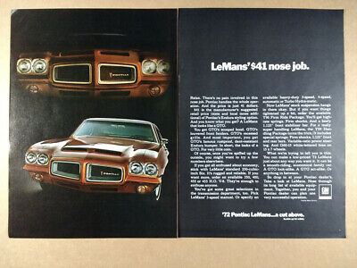 1972 Pontiac LeMans with Endura Styling Option vintage print Ad