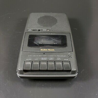 Radio Shack CTR 100 Cassette Recorder Player Headphone Aux Mic