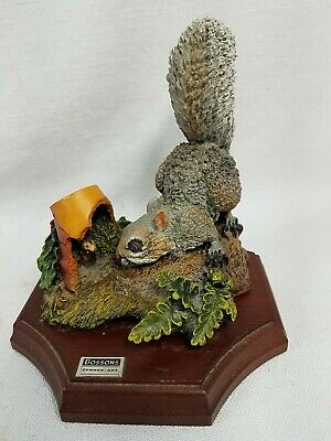 """Vintage Bossons Hand Painted Squirrel LE """"First Neighbor"""" Figurine England EXC"""