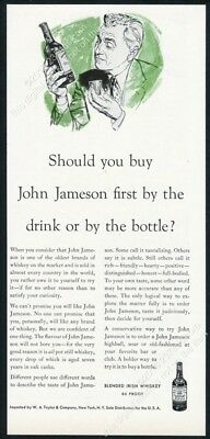 1954 John Jameson's Irish Whiskey By The Drink or By The Bottle? print ad