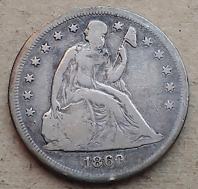 1860-O Liberty Seated Dollar, Pre-Civil War-New Orleans Mint Issue, Toned VG
