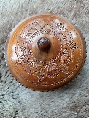 Vintage treen bowl with lid