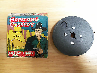 8mm Movie Hopalong Cassidy Three On A Trail Castle Films With Box