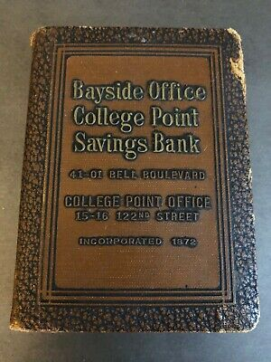 Vintage Advertising Bayside Office College Point Savings Coin Bank