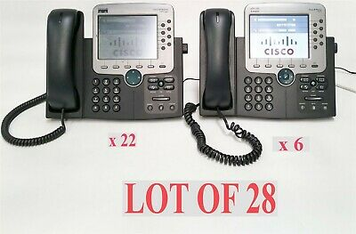 Cisco Ip Phone 6*7975 22*7970 Cp-7975G 7970G Voip 7900 Business Office Lot 28