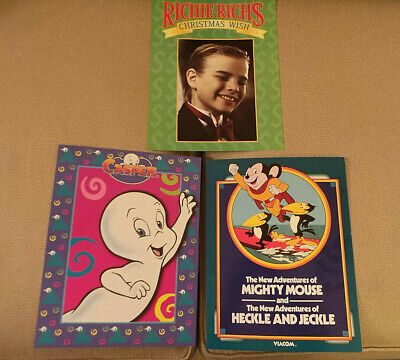Viacom & Harvey Entertainmen TV Cards Casper; Richie Rich, Mighty Mouse 1990s NF