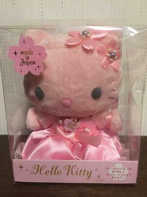 Sanrio Hello Kitty Sakura Pink Plush Doll with Bracelet Made in Japan 2008