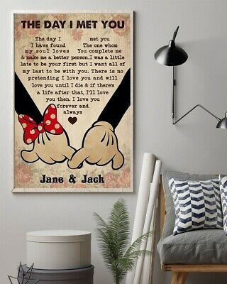 Custom The Day I Met You I Found My Missing Piece Couple Decor Poster No Frame