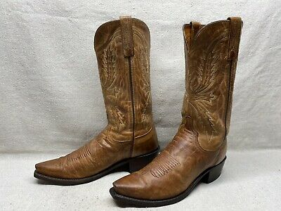 Lucchese M1016.C2 Wyatt Mens Tan Madras Goat Leather Cowboy Western Boots