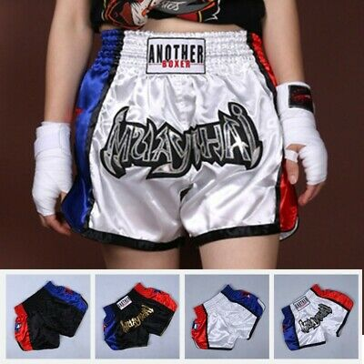 Details about  /Anotherboxer Men Women MMA Muay Thai Boxing Shorts Printed Kickboxing Sportswear