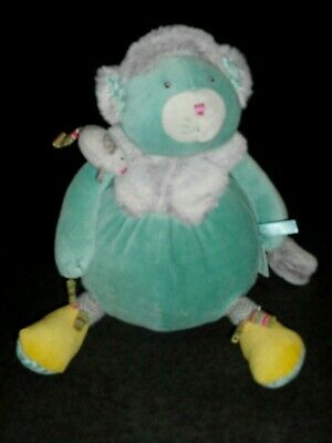 Doudou Peluche Souris Grise Fourrure Jambe Rayées Les Pachats Moulin Roty TBE