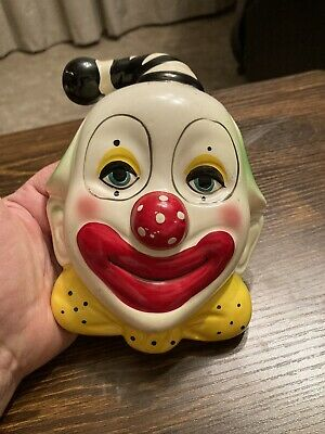Rare Vintage Hand Painted Hanging Clown Vase Made in Japan