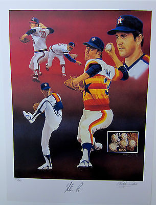 Nolan Ryan Autographed Limited Edition  Lithograph By Christopher Paluso