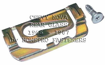 FITS CHEVY IMPALA 1971-1972 REAR GLASS REVEAL MLDG CLIPS  20pc