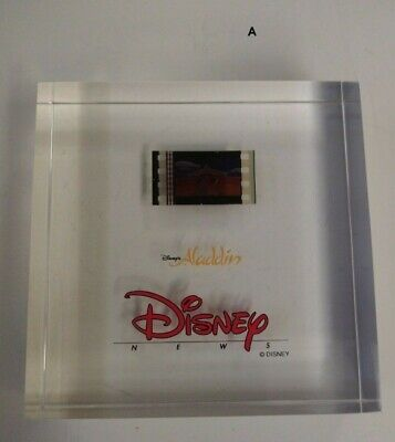 DISNEY embedded ALADDIN FILM lucite ***NEW***