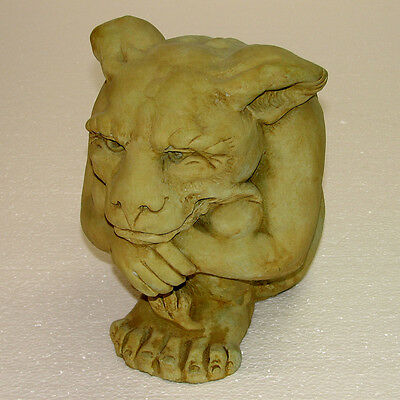 Cast Stone Cement Small Igor Gargoyle Outdoor Garden Statue