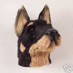 DOBERMAN Black Dog Fur Furry Head Realistic MAGNET New