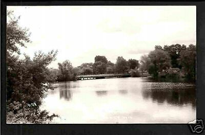 Amery Wisconsin c1939 RPPC River and Bridge WI
