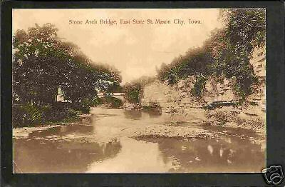 Mason City Iowa 1909 East State St Stone Arch Bridge IA