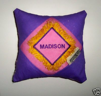 PERSONALIZED Tooth Fairy Pillow -  Sparkly Fringe!