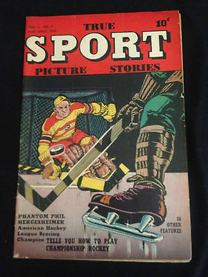 TRUE SPORT PICTURE STORIES Vol. 4 #6 VG Condition
