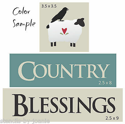 Joanie Stencil Prim Sheep Star Country Woolen Farm Animal Barn Decor Sign Paint