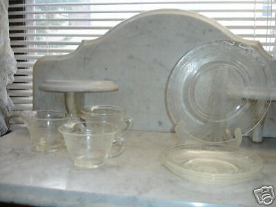 Crystal Depression Glass - Six Assorted Pieces