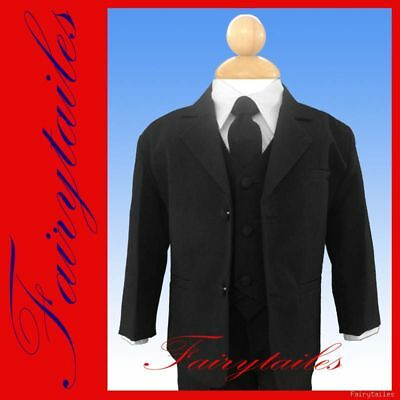 Wholesale Lot Of 6 Black Boys Dress Suits 5 - 7