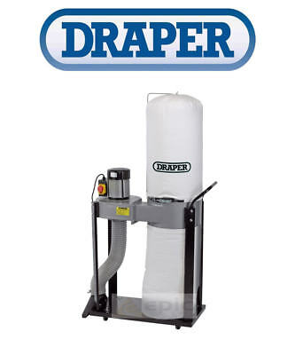 Draper 55L Dust Extractor Vacuum With Hose Workshop Wood Chip Collector 79359